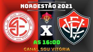 4 de Julho x Vitória ao vivo Copa do Nordeste 2021